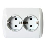 Розетка подвійна з заземленням біла e.install.stand.810DB серія e.standard 66e780af18607