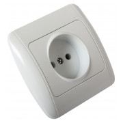 Розетка без заземлення біла e.install.stand.813 серія e.standard 95a6e46a161a8