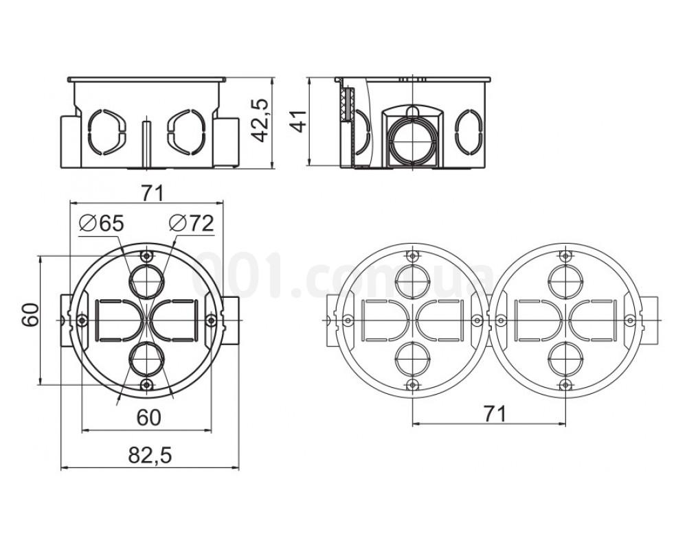диаметр стандартного подрозетника