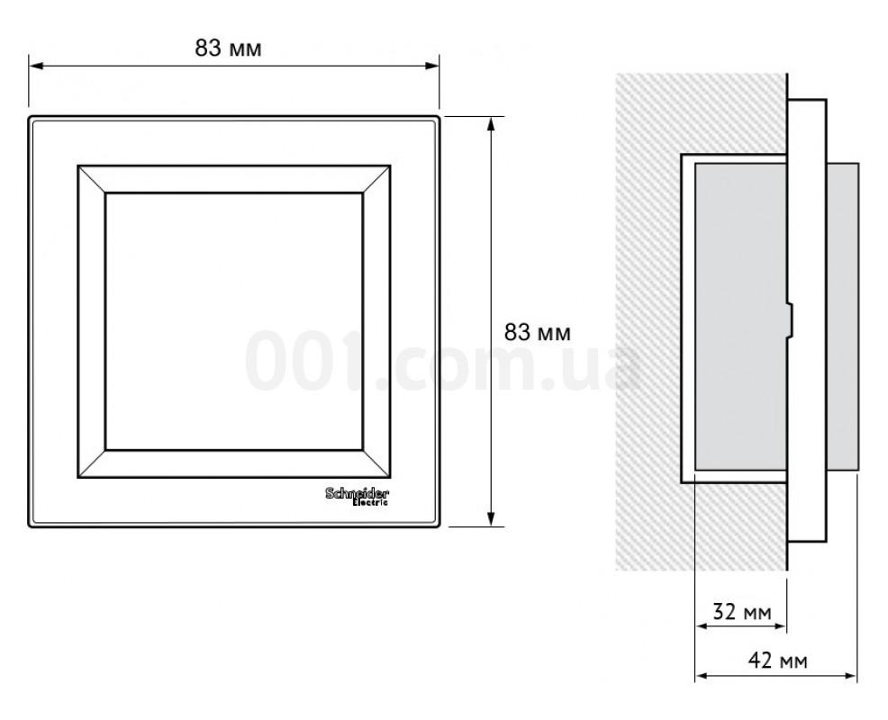 67108b40497b Габаритные размеры одноместной розетки с заземлением и защитными шторками  Schneider Electric серии Asfora арт. EPH2900223